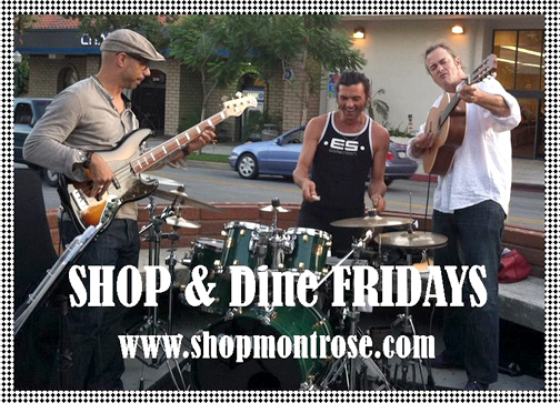 Music on the streets for Shop & Dine Friday.