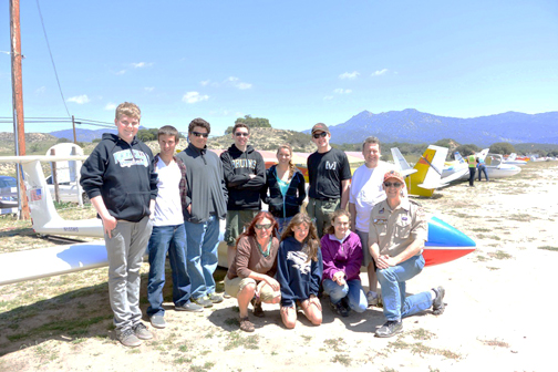 Members of the Venture Crew, an expansion of Troop 288, are shown at a recent outing.