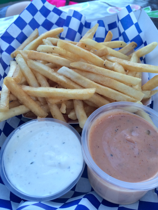 Photos by Charly SHELTON. House made ranch and secret sauce with fries.
