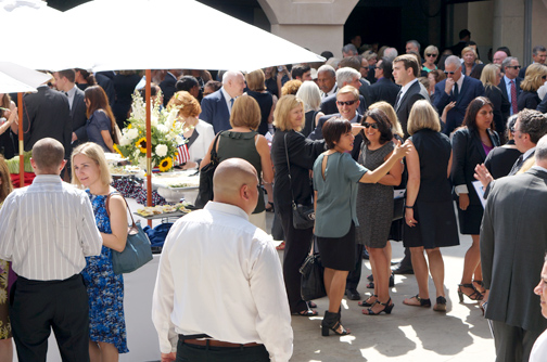 Guests celebrated Scott Studenmund's life at a post-memorial reception Photo Credit Nicole Trevor