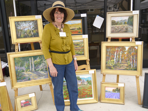 La Cañada artist Trish Kertes prefers using oils and watercolors.