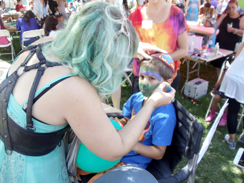 Benny Lumer got his face painted at the festival.