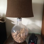 Blair corks fill a lamp in the Blair Estates suite at Vendange Carmel Inn and Suites.