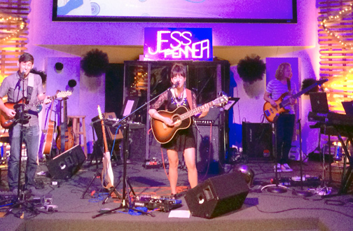 Jess Penner, a musician from Sunland who signed her first record deal at age 15, performed at the Summer Nights concert on Sunday.