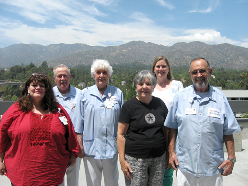 From left are Olga Cedeno, Donald Weir, Pat Rademacher, Evelyn Barley, Sue Hailey and Richard McDaniel.
