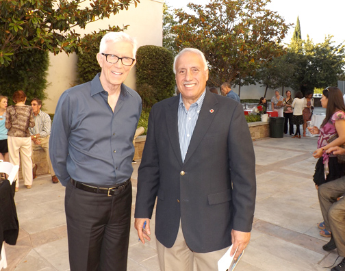 Photos by Michelle Ann Blanes RAMIREZ Longtime ARC supporter Fritz Coleman with ARC Glendale-CV Chapter CEO Ron Farina.
