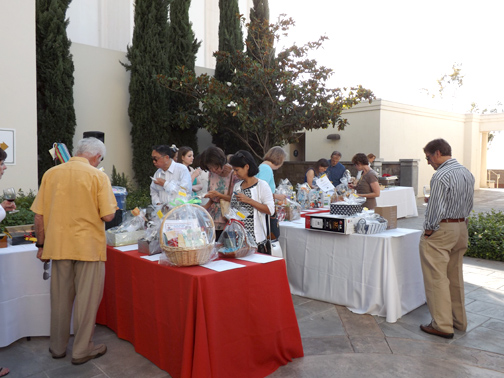 Guests enjoyed a variety of wines, appetizers and chocolate.