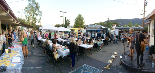 Food trucks, music, merchants and more kept a crowd of over 200 folks entertained on Sunday night at CVCHURCH.
