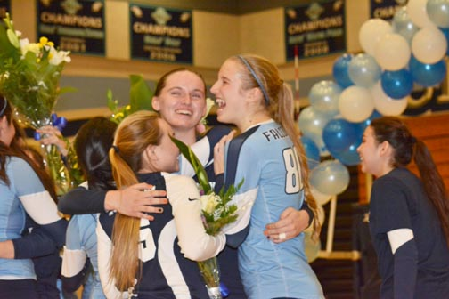 girls vb wraps season  says farewell to seniors