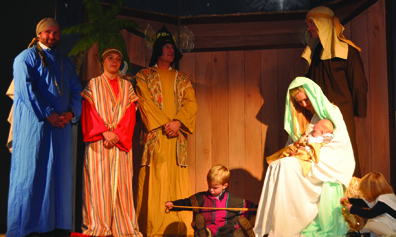 File photo Visitors to the Drive Thru Nativity at Community Christian Church of the Foothills will experience scenes that tell the Christmas story that feature live actors. The Drive Thru Nativity takes place this Friday and Saturday nights from 6:30 p.m. to 9:30 p.m.