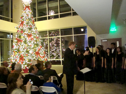 Glendale Adventist Academy Chorale sang a number of Christmas carols.