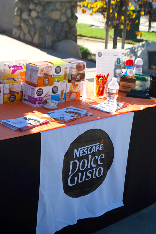 A Nescafe Dolce Gusto station was set up to give early morning runners a pick-me-up.