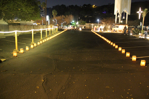 Photos provided by Terry NEVEN A lighted pathway directs cars through the drive through nativity scenes.