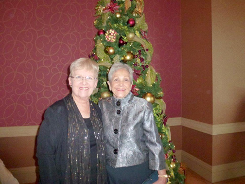 President Karen Millman and Festival of Trees event chair Alma Tycer.