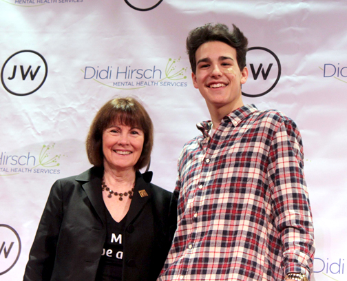 Didi Hirsch Mental Health Services CEO Kita Curry with the upcoming singer-songwriter.