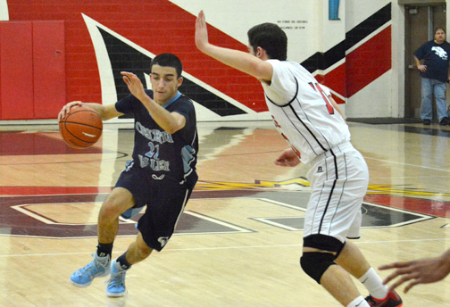 Photos by Dan HOLM  Arin Ovanessian collected five rebounds and scored a career-high 35 points on Tuesday as the Falcons beat Glendale 79-66.