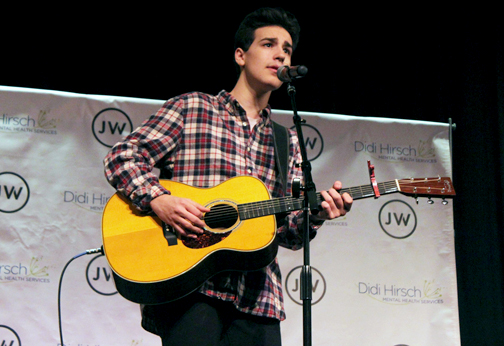 Photos by Isiah REYES Musician Jacob Whitesides performed at Flintridge Preparatory School on Saturday as part of a fundraiser for Didi Hirsch Mental Health Services. The concert was organized by student Delila Brown.