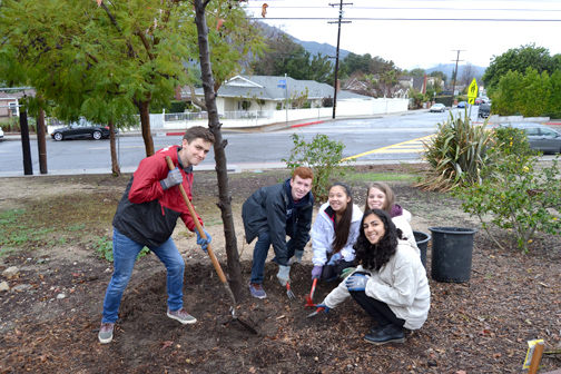 Photo by McKenna MIDDLETON The Tree People club helps beautify the campus while helping the environment.