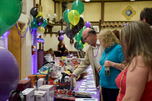 Guests had plenty of silent auction items to bid on – all donated by supporters.