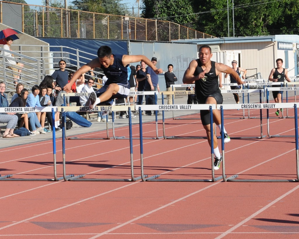Kenny Kang placed first in 110HH.
