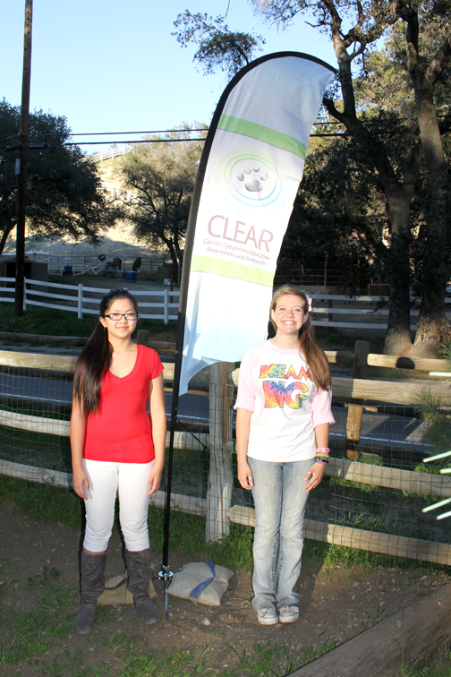Photos by Isiah REYES Maddie Patriarca and Isabelle Buenaflor at the CLEAR fundraiser they organized.