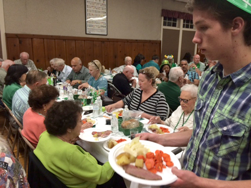 Photo by Mary O'KEEFE This year's St. Patrick's Day dinner hosted by the American Legion Post 288 raised around $3,000 for the various outreach projects and organizations the post supports.