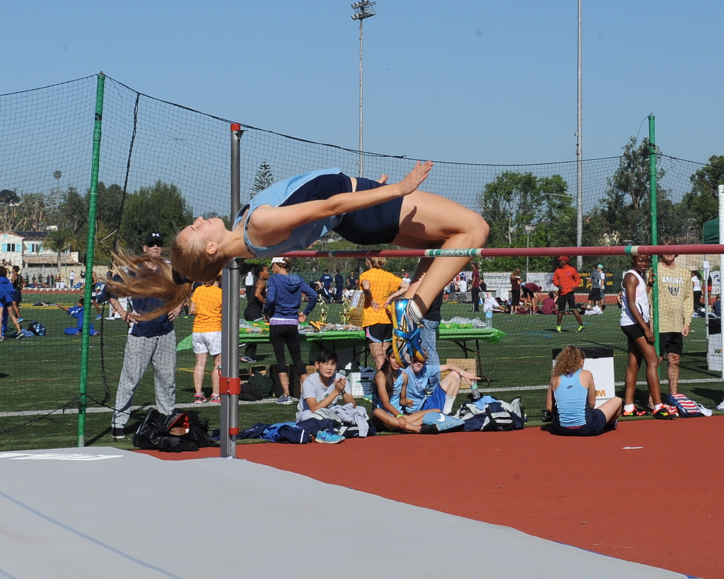 Emmy walker at the high jump