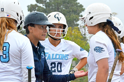 Crescenta Valley Coach Amanda Peek's strategy almost brought the Falcons back, but their rally late in the game came up short.
