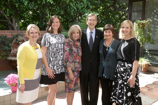 Photo by Nick BOSWELL From left are Dana Jones, Amy Onderdonk, Jane Popovich, Mayor Bill Bogaard, Jane Olson and Kristen Todd.
