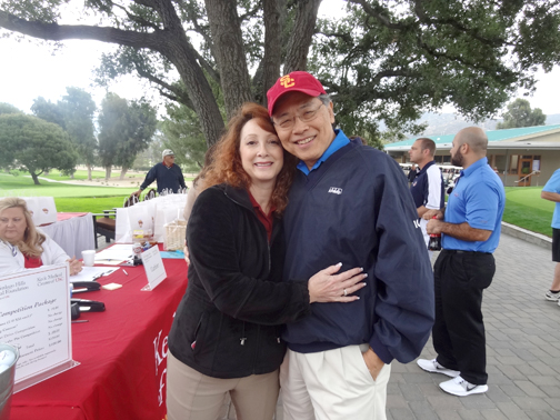 USC-VHH Foundation board member Tina Marie Ito and her husband Dennis Ito, who golfed in the tournament.
