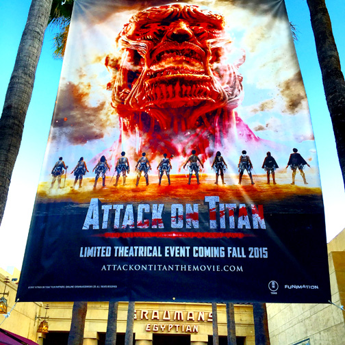 Attack on Titan premiere was held at the Egyptian Theater.