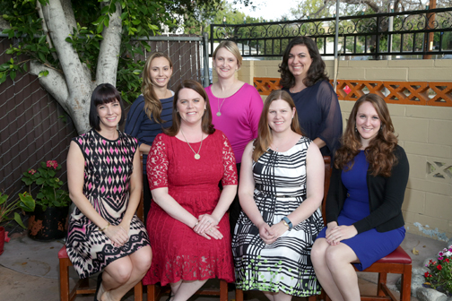 JLP of Pasadena's new board of directors includes (first row) Kim Ferreira, Robyn Grandy, Jennifer Allan Goldman and Brooke Bennett. Back row are Daryl Synowiec, Dana Jones and Anna Agadjanyan. Not pictured are Amy Onderdonk, Lauren Hooten and Kathryn Enright.