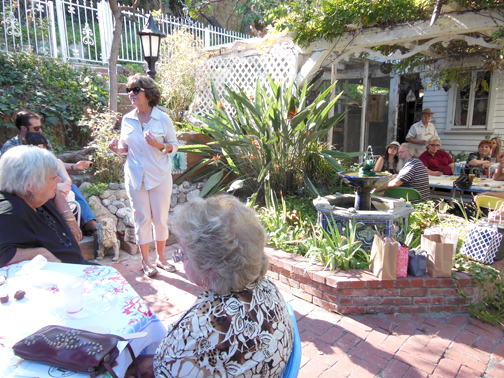 Photo provided by Joanna LINKCHORST Glendale City Councilwoman Paula Devine shares her thoughts on the Rockhaven property at the first annual meeting of the non-profit group Friends of Rockhaven.