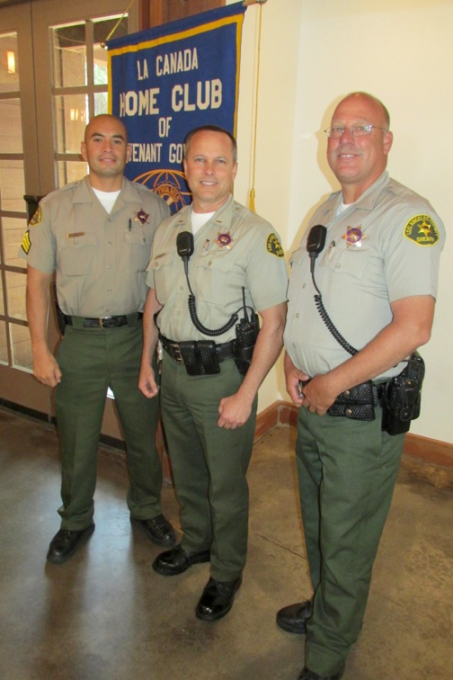At right are Sgt. Hector Manewas, Lt. Randy Tuinstra and Dep. Eric Matejka.