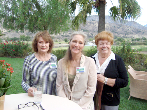 LCFOG member Arlene Massimino (left) with author Shari Shattuck and Wendy Nicoll at the annual Book & Author Luncheon.