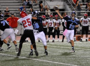 Evan Nelson (13) performed well for the Falcons in the game against Glendale.