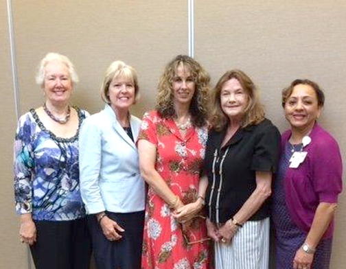 From left are Pauline Hendricks, Ruth McNevin, Toni Williamson, Kate Kaneko and Purnima Panchal. Additional members not pictured are Betty Hurn, Rose Linda Gonzales, Cindy Sawyer and Shirley Tan.