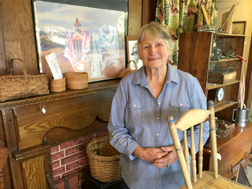 Photo by Charly SHELTON Due to health reasons, Jacqueline Castleman is closing her shop About Antiques after 24 years.