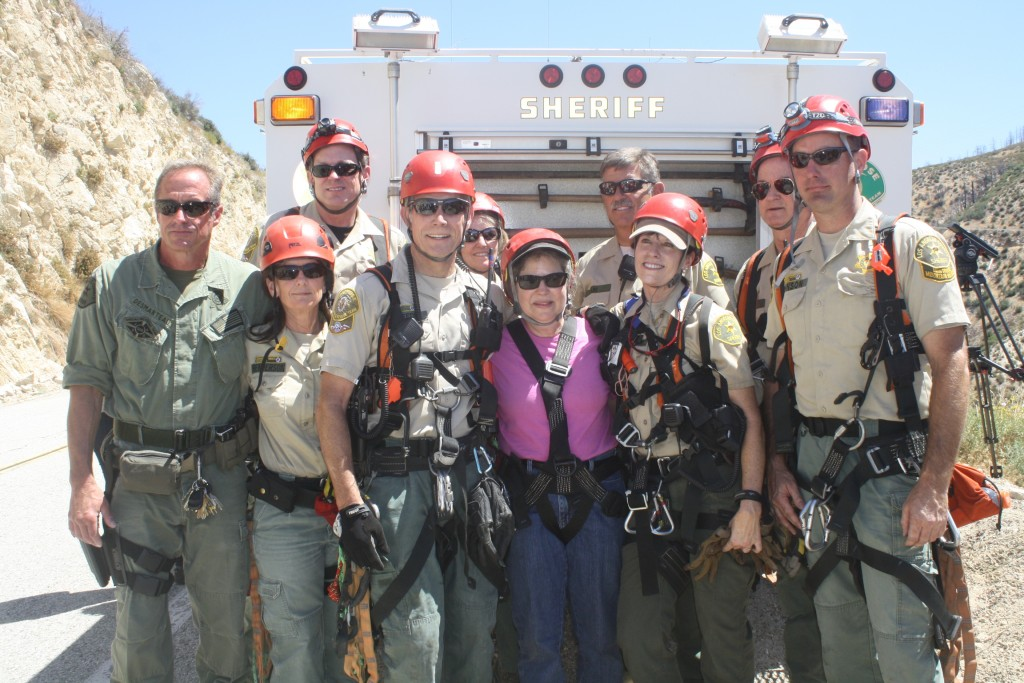 File photo Tracy Granger (center) was rescued by MSR. The team is accepting applications for new members.