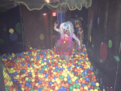 Guests can traverse a ball pit in the 'Circus' maze.