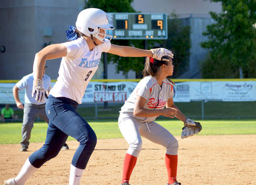 File Photo Sydnee Wells runs home from third base during a game against Pasdena in April.