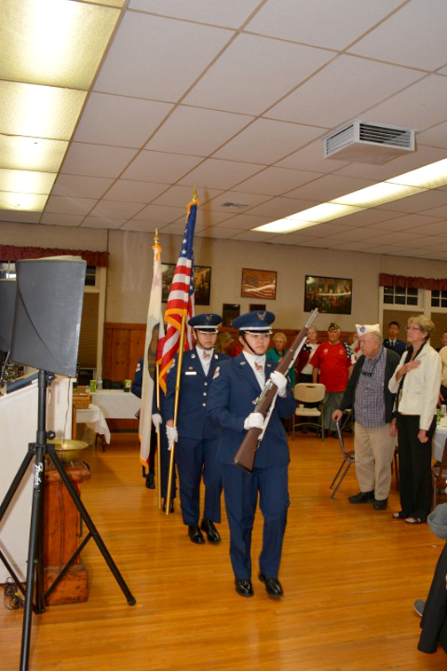 The JRTOC color guard began the evening's festivities.
