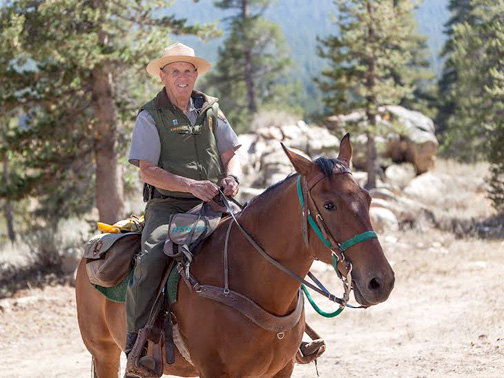 File Photo Fred Koegler spends his summers working as a horseback mounted search and rescue member in Yosemite National Park.
