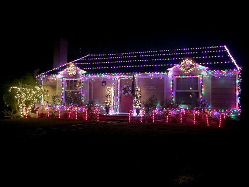 "This home in the 1200 block of Oak Circle Drive off Broadview and Roselawn in Glendale 91208 has been called ""The Gingerbread House"" by neighbors."
