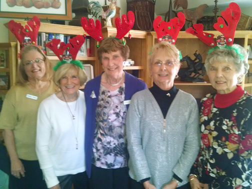 Photo courtesy of LCFOG  The 2016 LCFOG officers are (from left) Ginney Pruitt, Marie Baker, Joan Cleven, Joanne Ploszaj and Elinor Bunn.