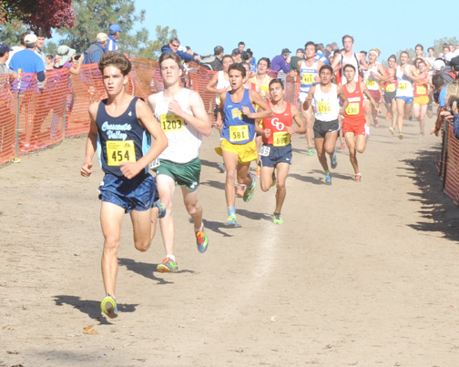 Photos by Leonard COUTIN Falcon Colin FitzGerald captured 23rd place in the CIF State Cross Country Championship held in Clovis on Saturday.