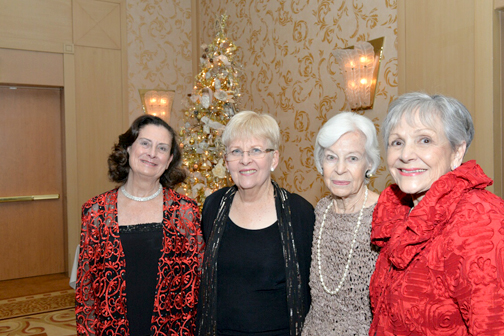 President Mary Lo Follett, Karen Millman, historian Pearl Wells and event chair Alma Tycer helped pull together this year's event.
