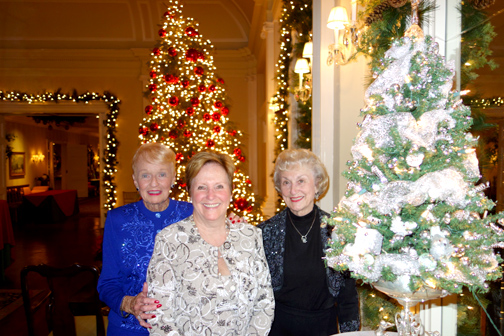 Las Candelas members - Glendale residents from left are Ann Ways, Ann Jones and Marilyn Butler. They are standing in front of the Legacy Tree created by Ann Ways and Marilyn Butler that was won by Ann Jones.