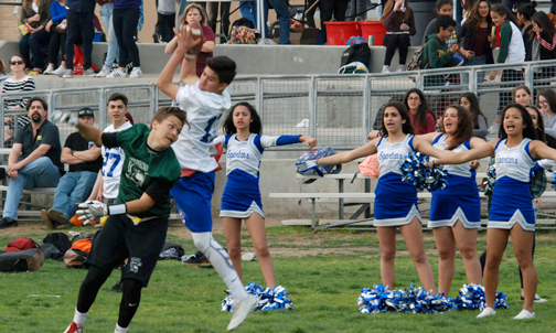 Angel Ochoa makes the catch for a touchdown.