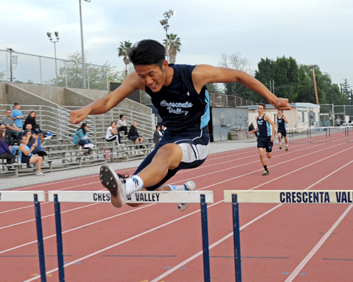 Senior Kenny Kang won the 110 HH.